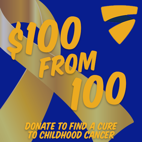 $100 from 100 Businesses for Childhood Cancer