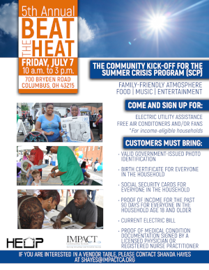 "IMPACT hosts its 5th Annual ""Beat the Heat"" Summer Crisis Program kickoff event"