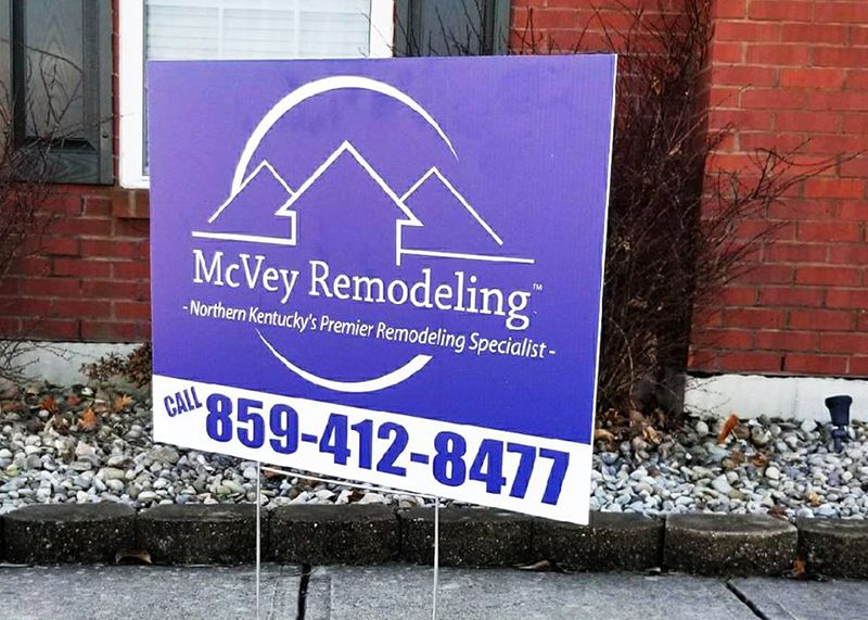 McVey Remodeling Yard Sign