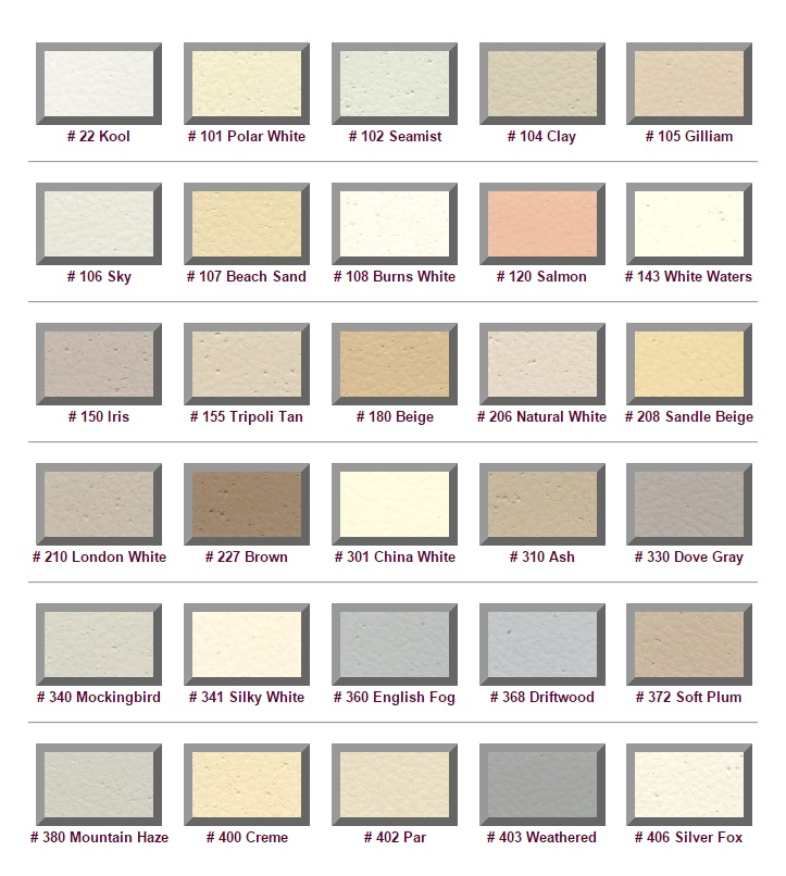 M6935 - Standard Color Selections for Exterior of  EPS Monument Signs (Group 1)