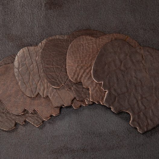 Buffalo Leather Coasters