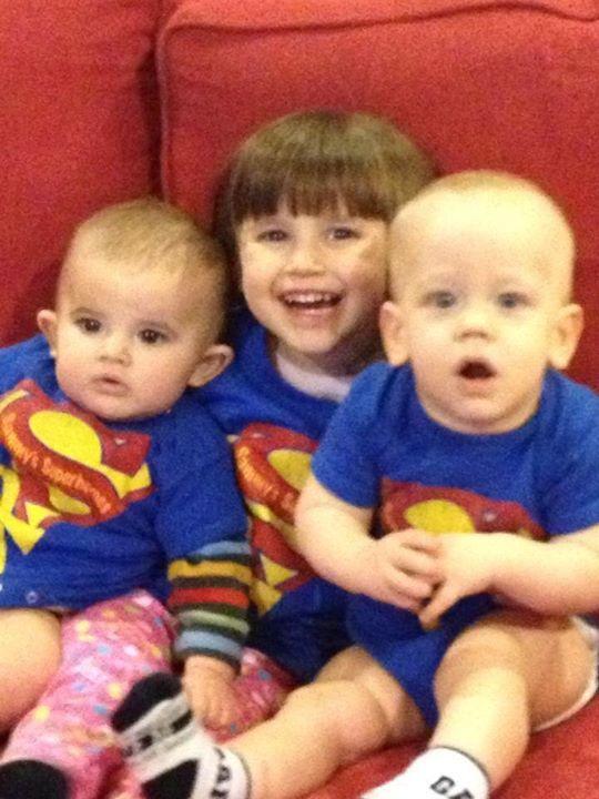 Lampe cousins! Ben, Anna and Logan