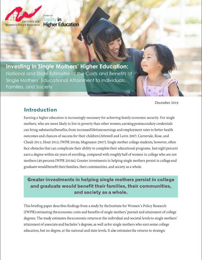Investing in Single Mothers' Higher Education