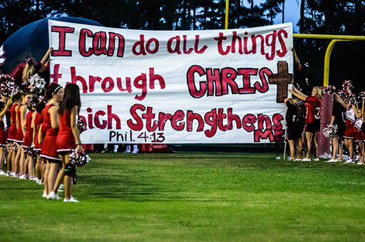 Court Declares Cheerleaders' Bible Verse Banners are Legal