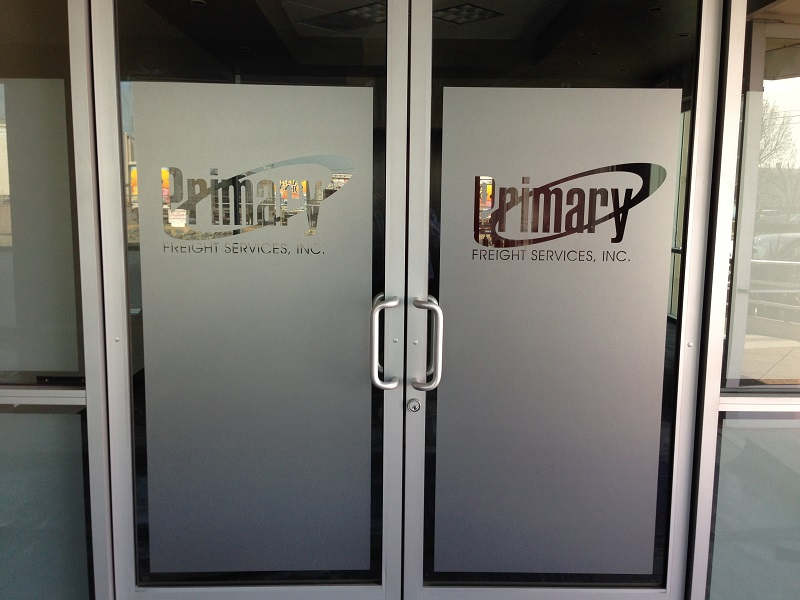 Etched and Frosted Window Graphics Orange County CA