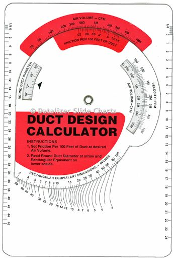 Duct Design Calculator Wheel