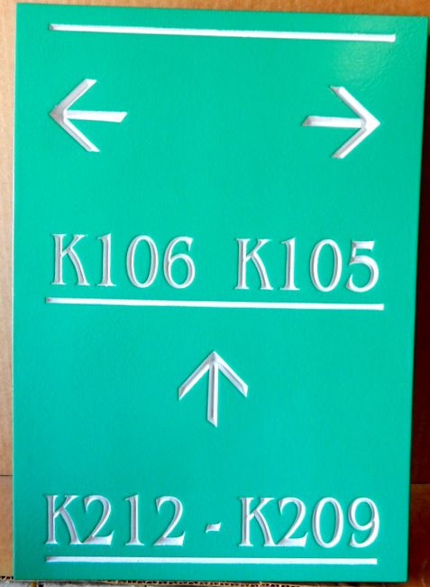KA20848- Carved Engraved  Directional Sign for Location of Condominium or Apartment Units