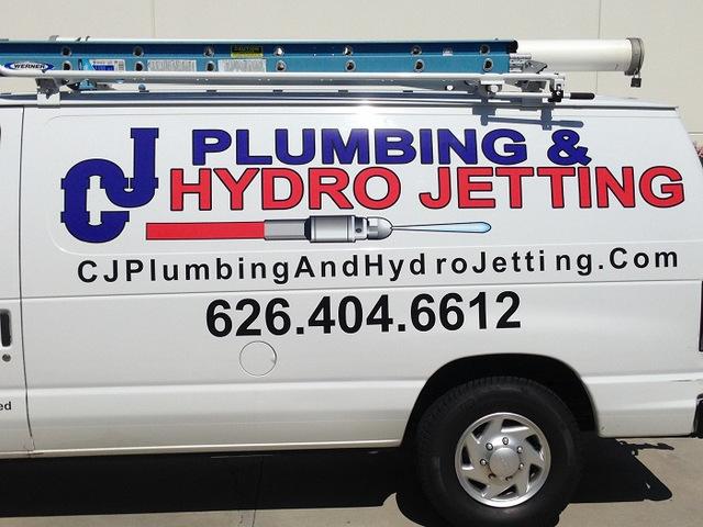 Contractor work van graphics Orange County