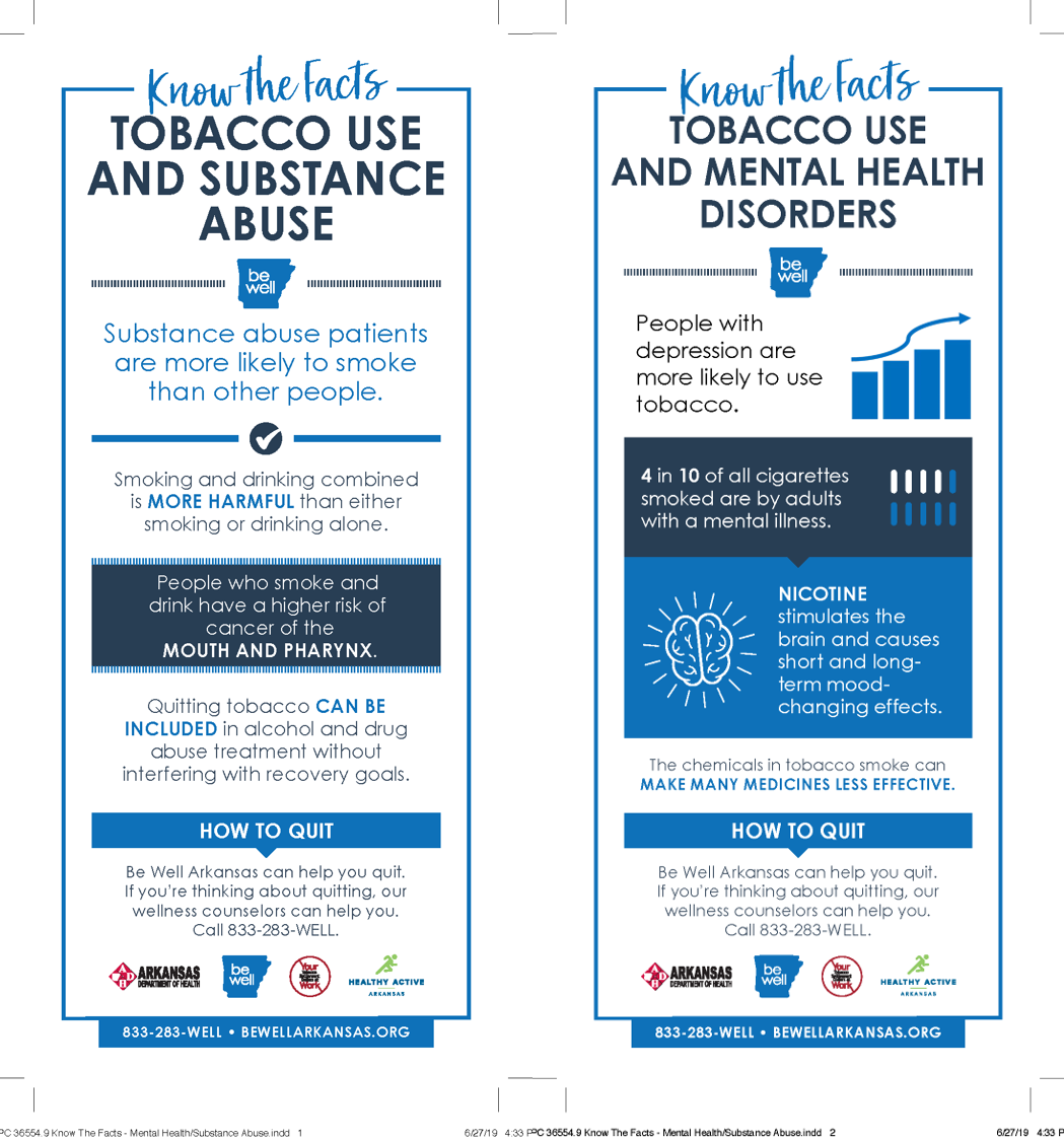 Mental Health & Substance Abuse - Know the Facts Panel Cards