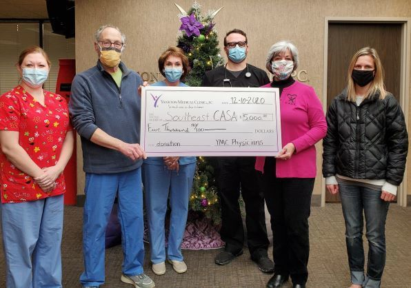 2020 Donation from the Physicians at the Yankton Medical Clinic