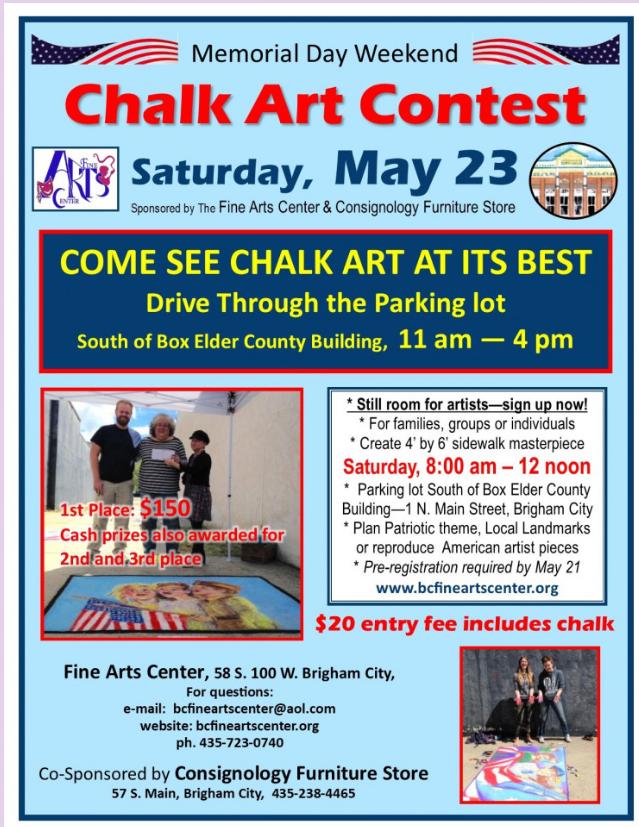 Annual Memorial Weekend Chalk Art Contest