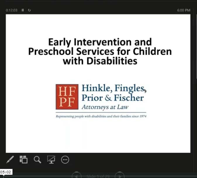 Early Intervention and Preschool Services