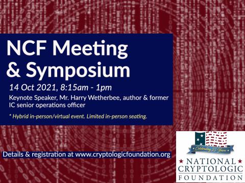 2021 NCF Meeting & Symposium - 14 Oct