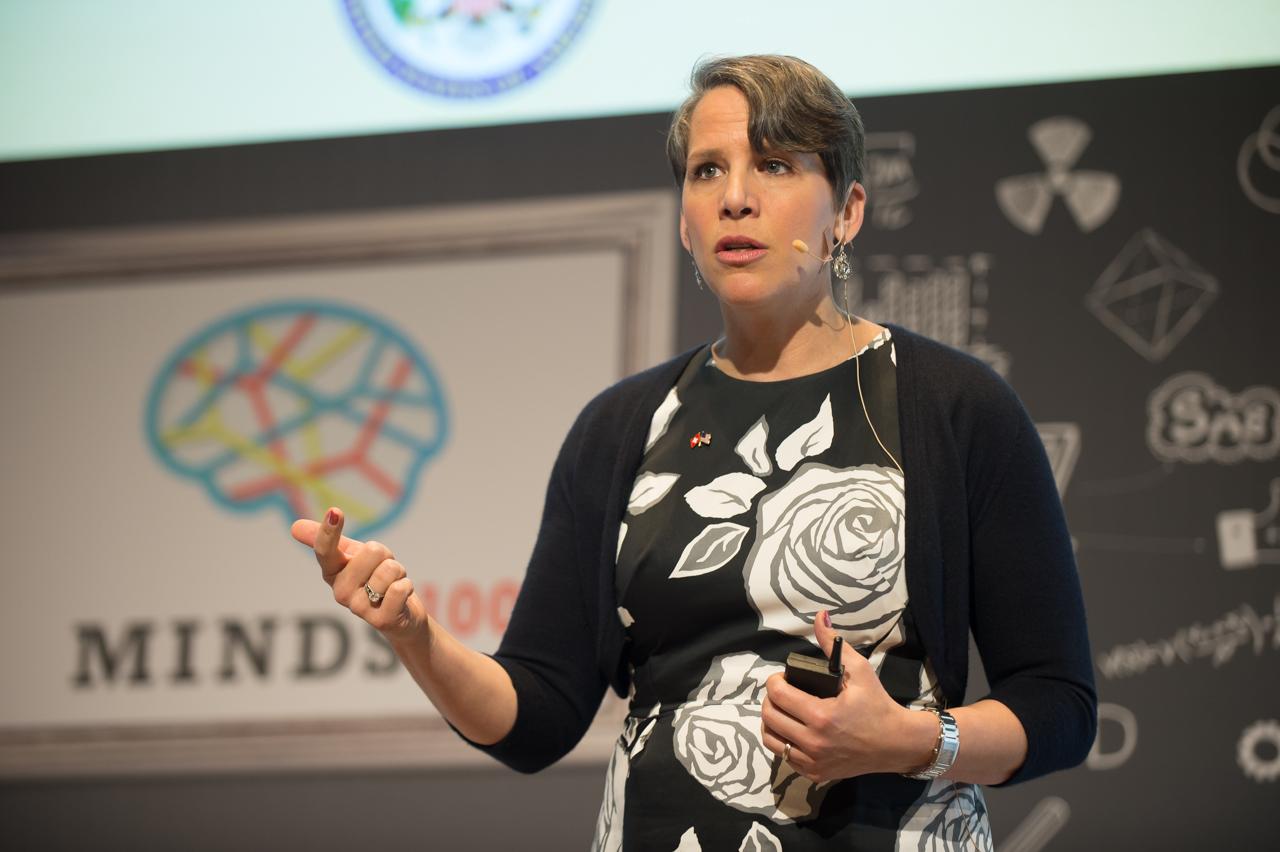 Suzi presenting in Basel, Switzerland.
