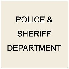 X33580 - Carved Wall Plaques for Police and Sheriff Departments