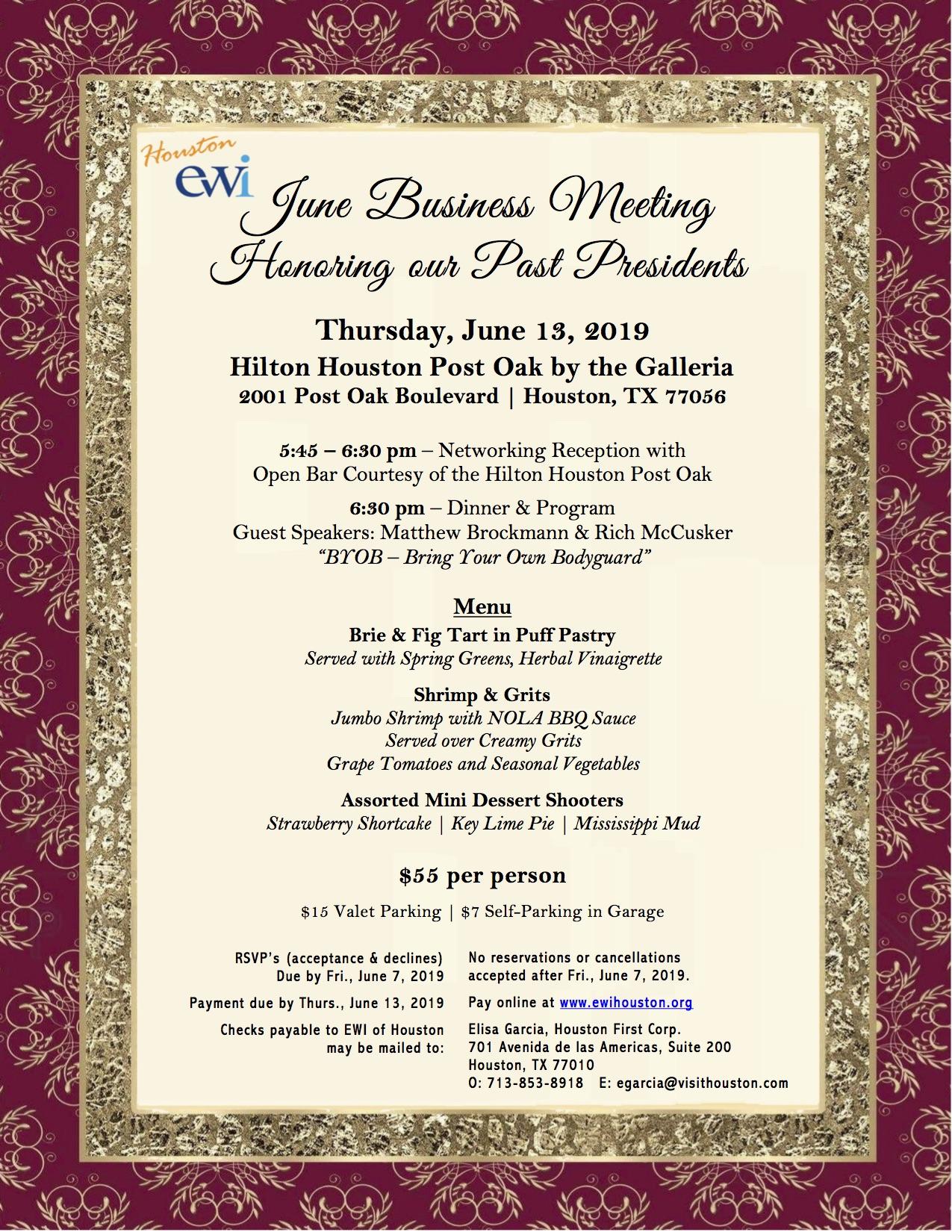 EWI June Monthly Meeting