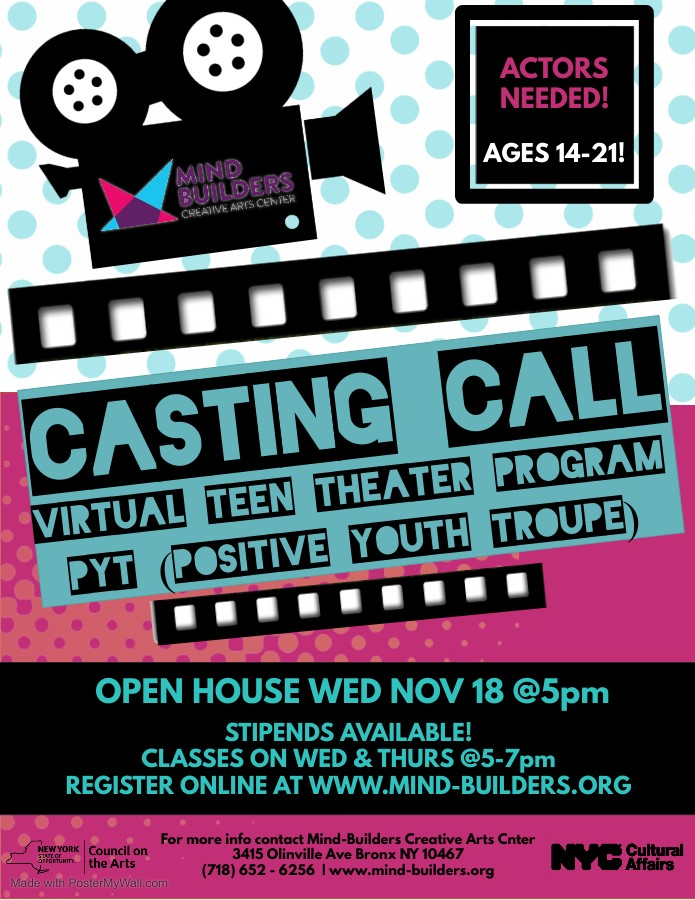 Positive Youth Troupe Virtual Open House