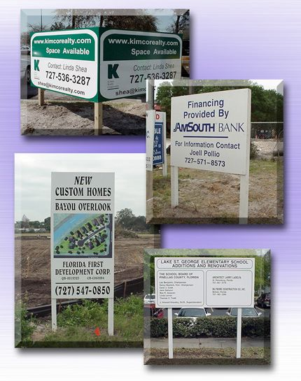 Post and Panel Real Estate Site Sign