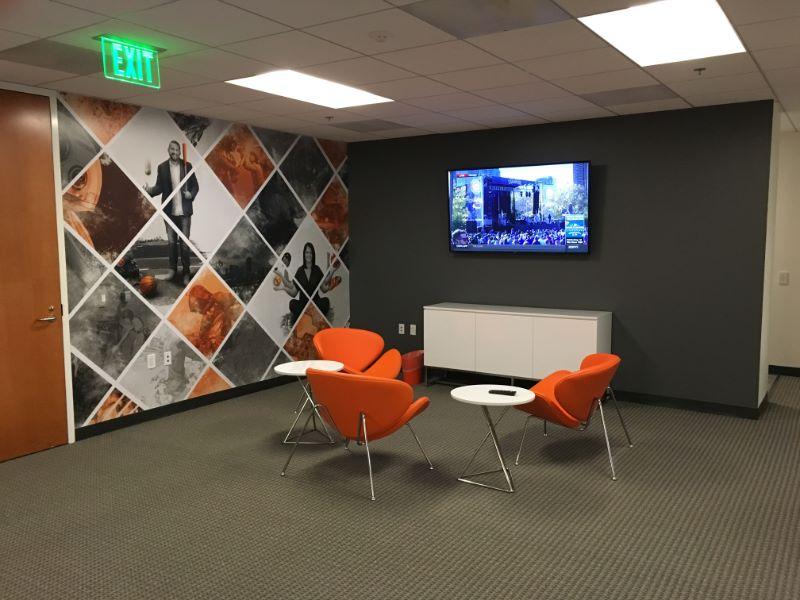 Office Wall Signs Corporate Lobby Logos Murals Orange CA 92856