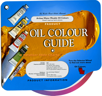 OIl Color Reference Data Wheel