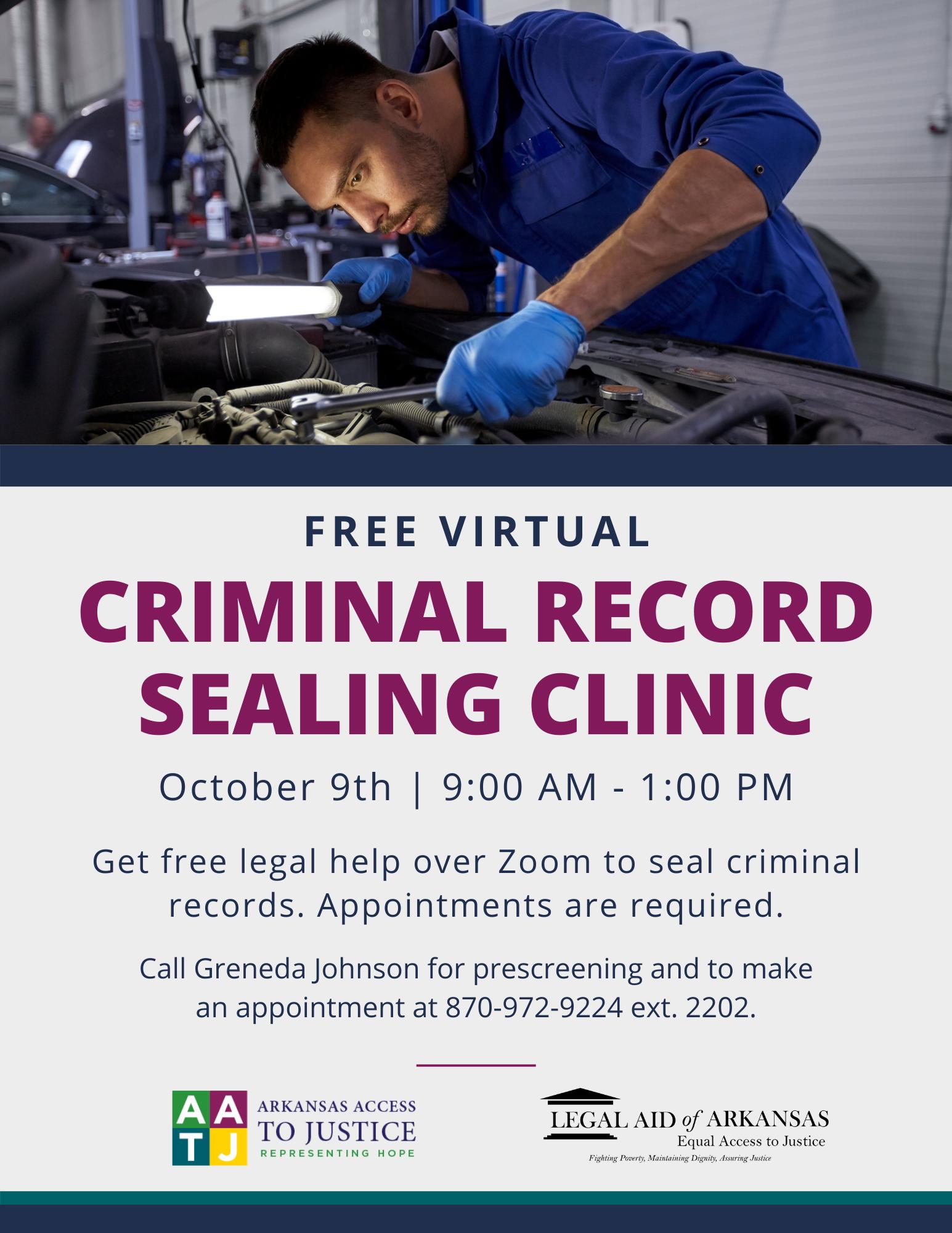 Virtual Criminal Record Sealing Clinic