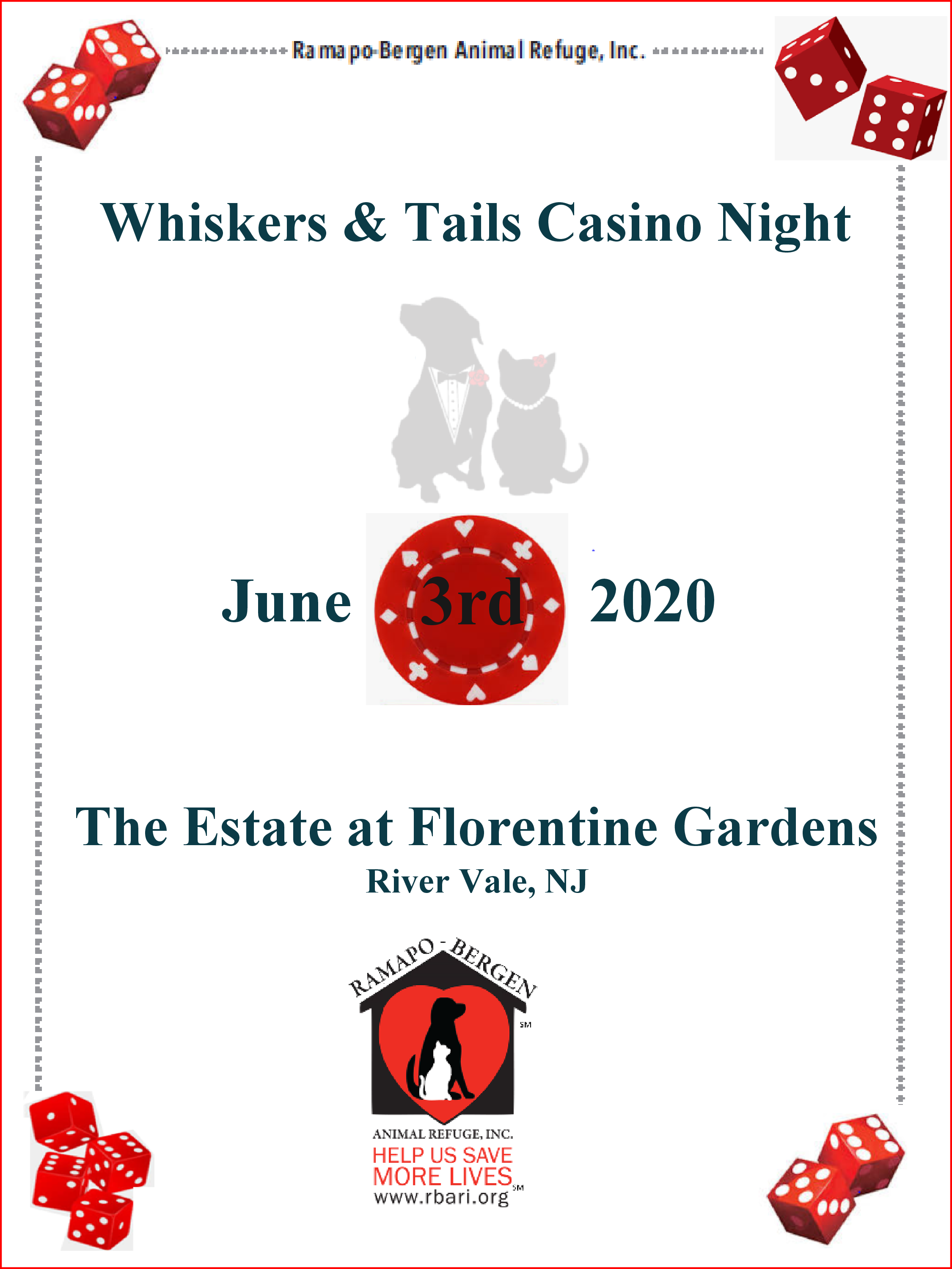 Whiskers & Tails Casino Night!