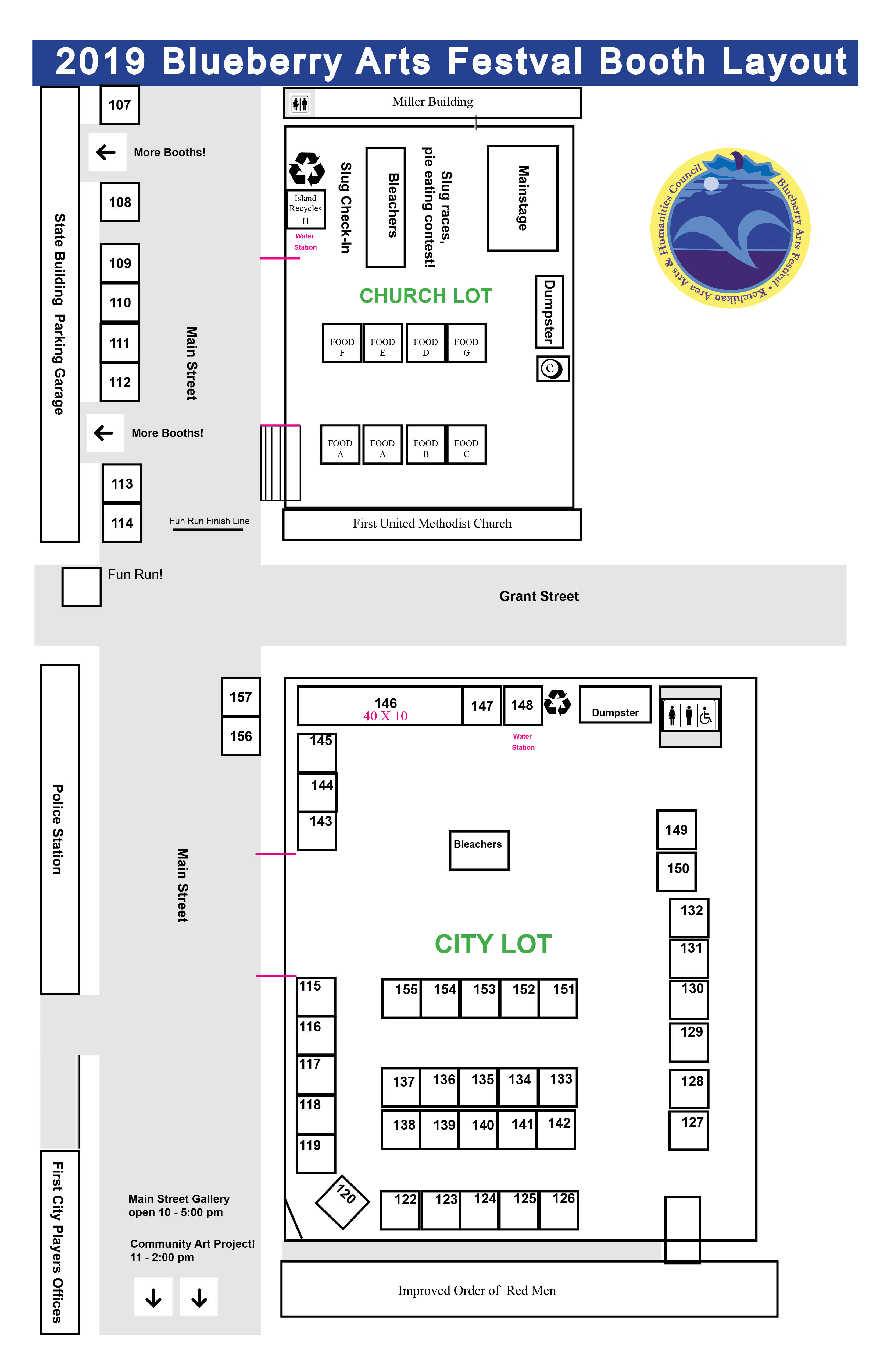 City Parking Lot and Methodist Church Layout