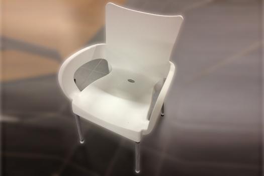 White Chair Plastic & Aluminum