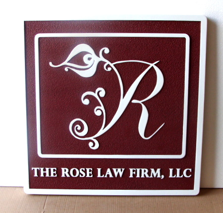 A10057 - Elegant Law Firm Sign with Logo