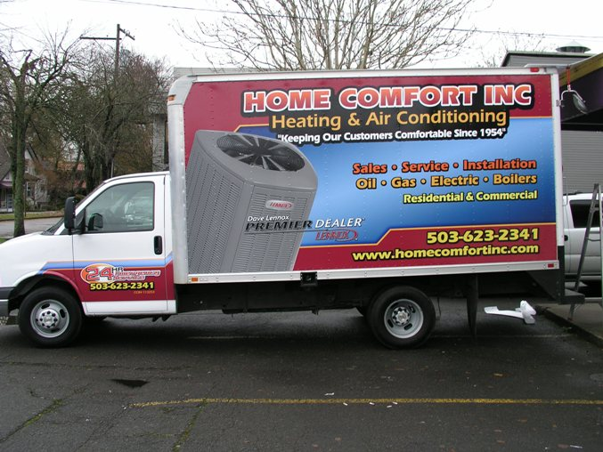 Home Comfort Inc. Vehicle Wrap