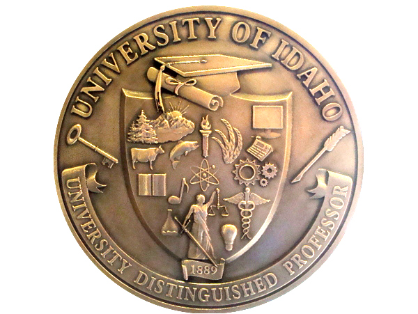 M7210 - Copper 3D Bas-relief Wall Plaque of the Great Seal of the University of Idaho