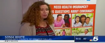 NBC 5 Covers Record Numbers for the Open Enrollment Period!