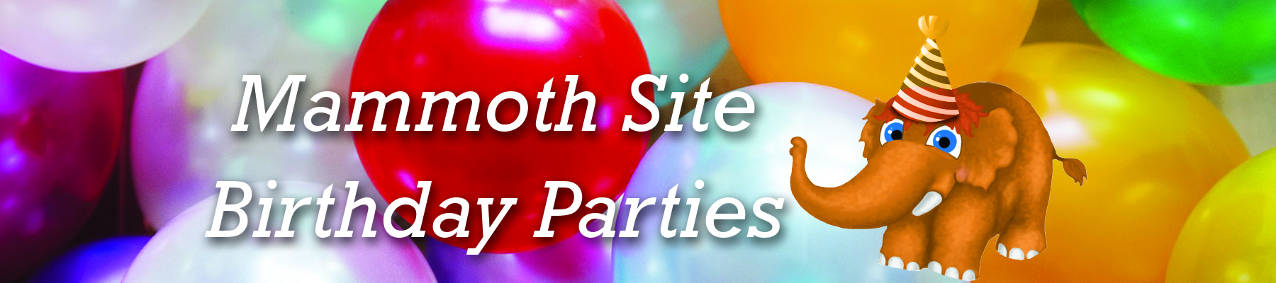 Mammoth Site Birthday Parties Graphic