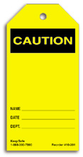 Blank Caution Tag