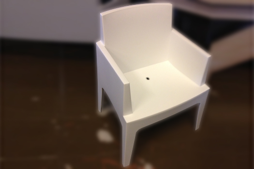 White chair plastic