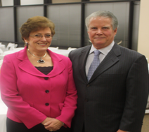 Martha & Rick Ellis pose at annual meeting