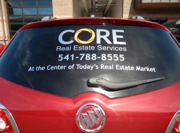 Vehicle Vinyl Lettering for Real Estate Agents in Bend OR