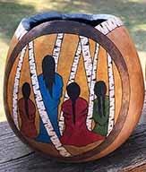 Chickie's Gourd Art-Birch Maidens Vase
