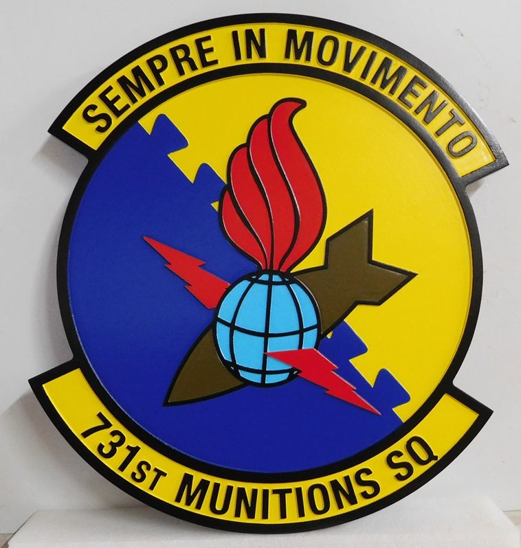 V31642 - Wall Pkaque of Crest of the USAF 731st Munitions Squadron