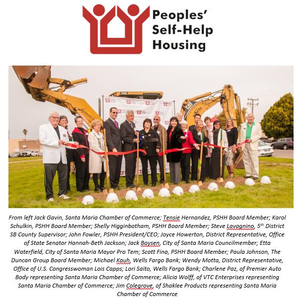 Peoples' Self-Help Housing Breaks Ground on Farm Worker Housing in Santa Maria