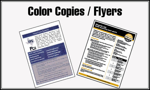 Full Color Flyers & Copies