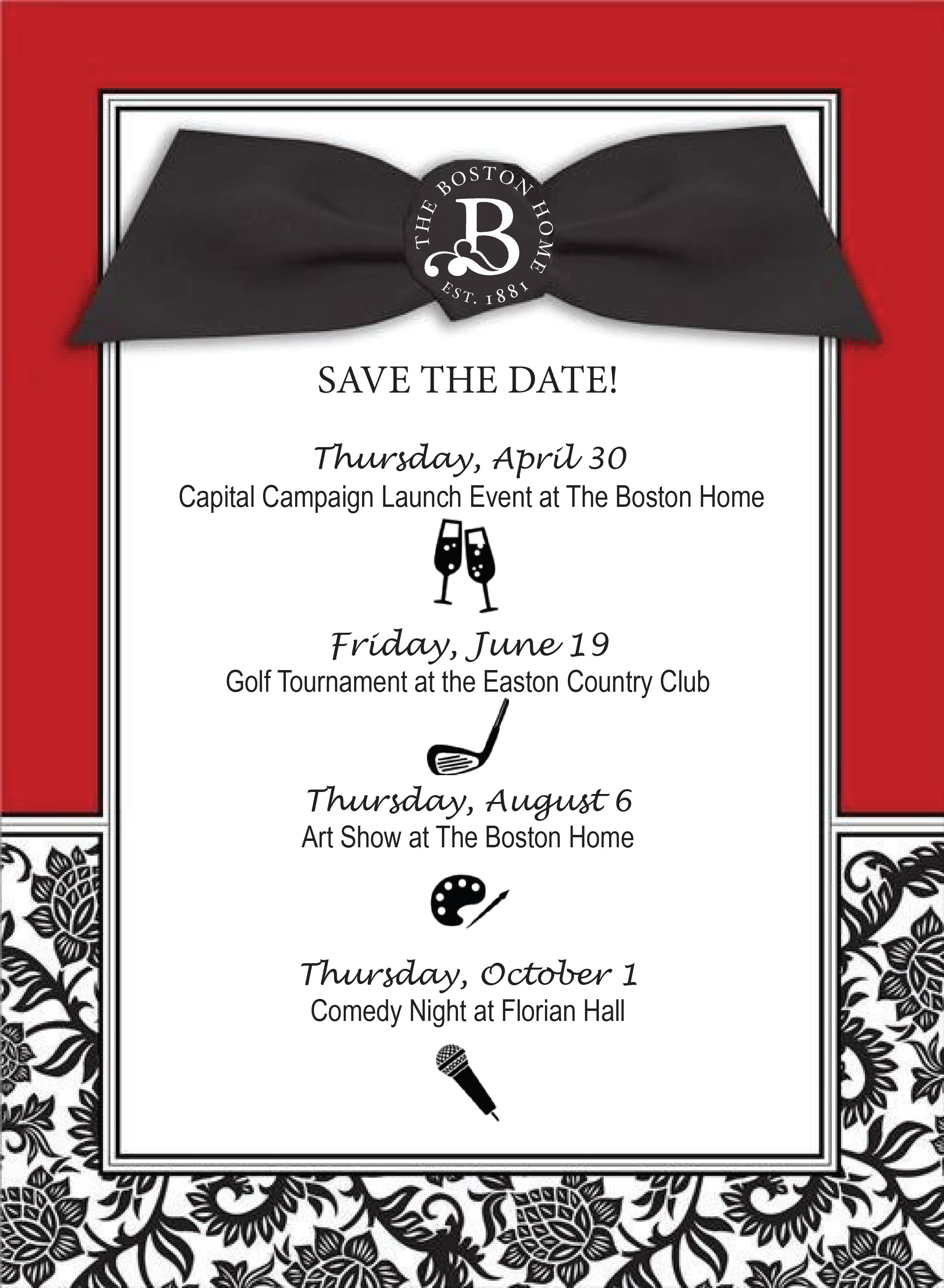 Save The Date!  Events you don't want to miss!