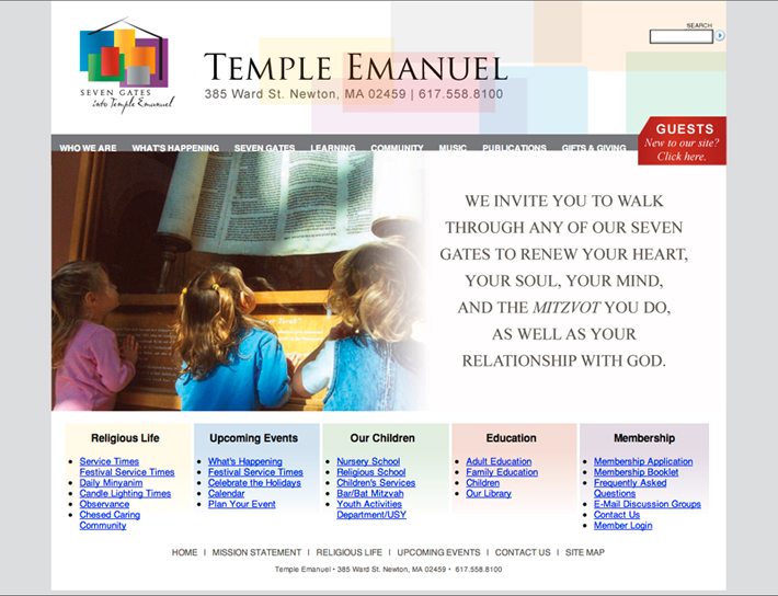 Temple Emanuel Website