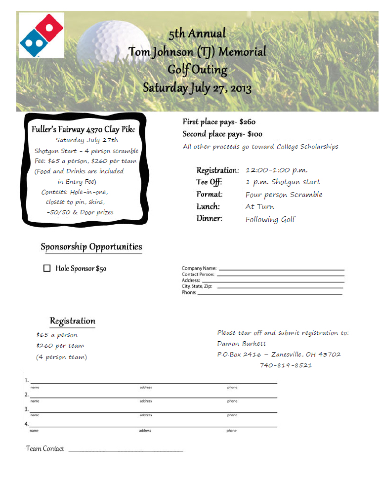 Tom Johnson Memorial Golf Outing