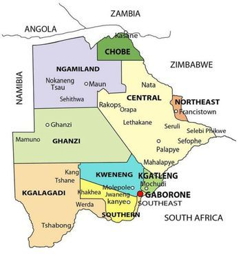 Governmental Districts in Botswana