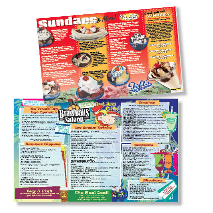 Menus and Placemats