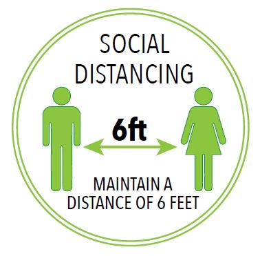 6 Foot Floor Graphic -  Circle