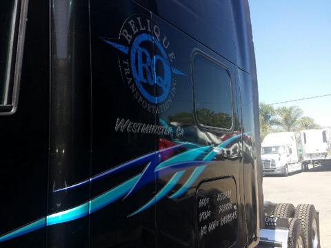 Semi truck and trailer graphics Orange County
