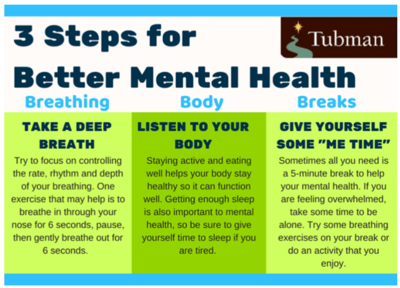 Three ways to better your mental health