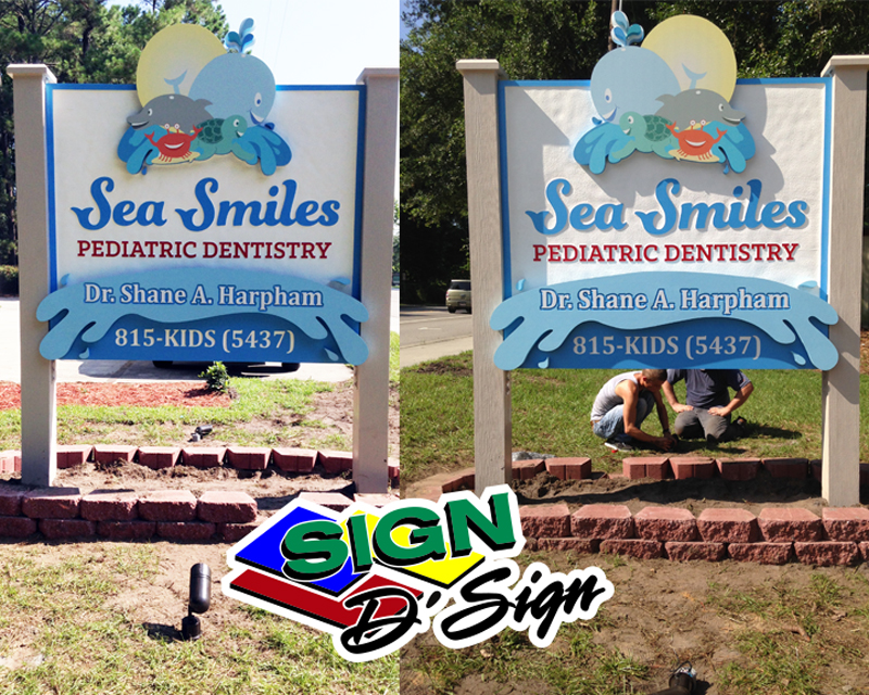 Sea Smiles Road Sign